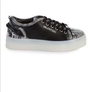 Dalia Sauvage embossed python leather sneakers